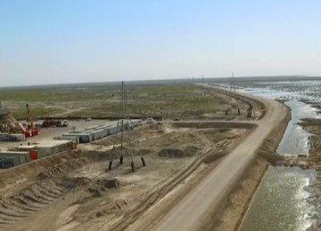A view of Yaran Oilfield in Khuzestan Province.