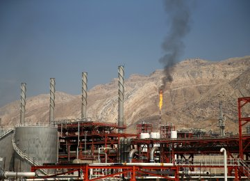 A natural gas refinery is shown in the South Pars Gas Field in Asalouyeh, Bushehr Province.
