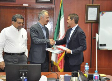 The deal was signed by the representatives of ISC and BPC in Tehran on Oct. 11.