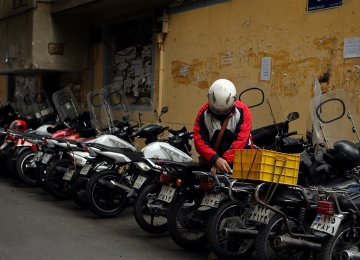 motorcyclists can purchase an insurance policy at 5,000 rials to 7,000 rials a day.