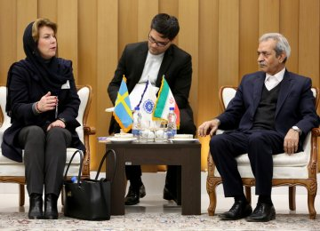 Gholamhossein Shafiei (R) and Ilva Berry