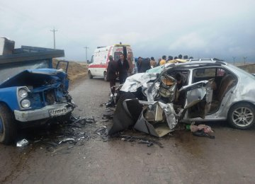 Road accidents are the second leading cause of death in Iran, after cardiovascular diseases.