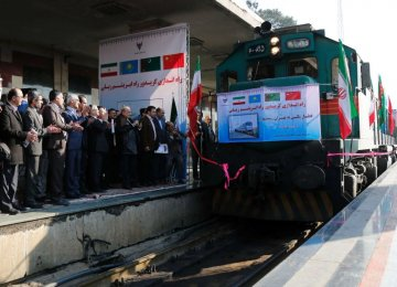 The first train to connect China and Iran arrived in Tehran in February 2016 loaded with Chinese goods, reviving the ancient Silk Road.