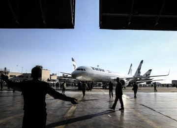 Airbus has delivered only three of the 100 planes Iran has ordered from the European airline consortium.