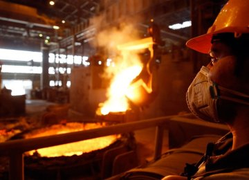 Officials expect steel exports to reach 8 million tons in the current fiscal year (ending March 20).