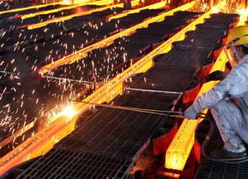 Iran's steel mills have so far materialized 31 million tons of the annual 55-million-ton manufacturing capacity target.