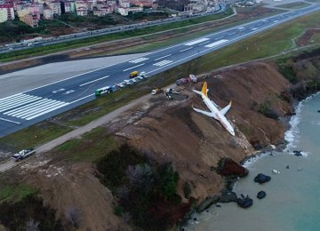 Passenger Plane Skids Off Turkish Coastal Runway