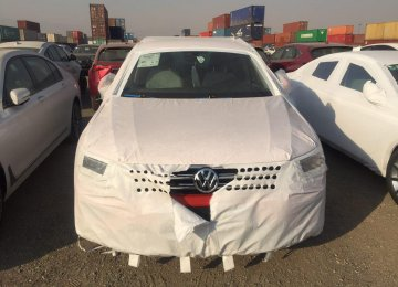 VW Imported Sample Models to Iran