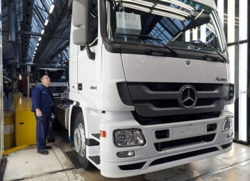 A Mercedes-Benz truck at the Woerth plant (File Photo)