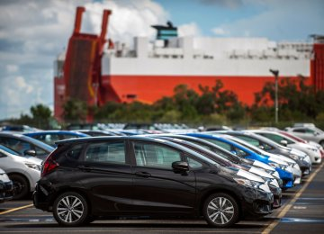 Imported vehicles at Port of Brunswick (File Photo)