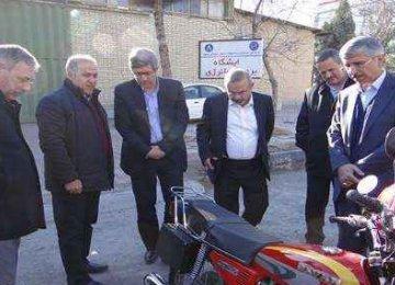 Hybrid Motorbike Unveiled in Northeast Iran