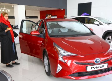 Toyota's hybrid Prius has led the sales in Iran in the current fiscal year.