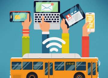 In addition to Internet and digital libraries, LCD display systems will be installed on the public buses.