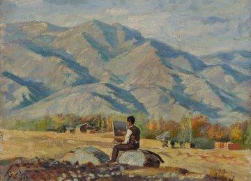 A painting by Ali Asghar Petgar