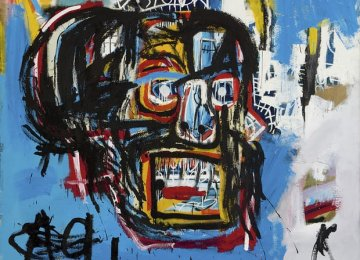 The untitled Jean-Michel Basquiat picture which was sold  at Sotheby's for $110 million last May.