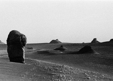 Italian Photographer Showing Dasht-e Lut in Black & White