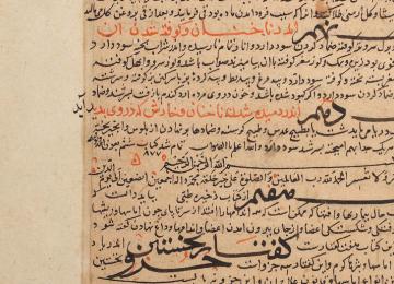 A page from Zakhira-i Khwarazmshahi