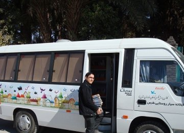The mobile library has 1,470 members,  most of whom are primary schoolchildren.