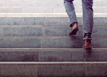 Stair-walking made participants feel greater motivation to work and an increase in energy.
