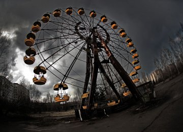 The iconic ferris wheel in Pripyat is a symbol of the Chernobyl disaster.