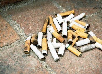 Cigarette filters are designed to trap hundreds of toxic chemicals.