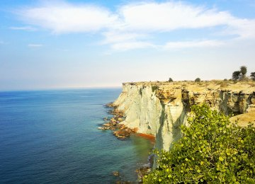 Cliffs in Chabahar overlook the Sea of Oman.