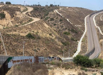 The waiver extends 3 miles west from the downtown border crossing in Calexico, California.