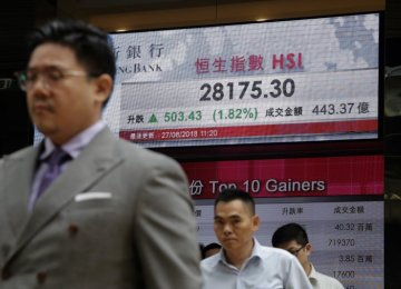 Asian Shares Rise After Record Highs on Wall Street