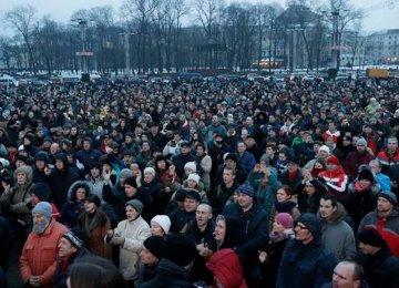 Belarusians Protest Against Labor Law