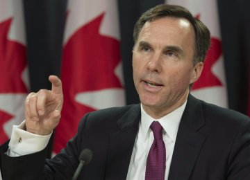 Canada Minister Defends Deficit Spending Plans