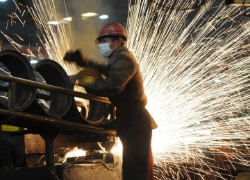 China Factory Growth at Eight-Month High