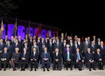Family picture during the G20 Finance Ministers and Central Bank Governors Meeting in Baden-Baden.