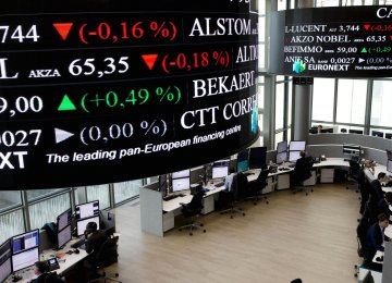 Pan-European stocks were down on Friday following falls in Asian and US stocks overnight.