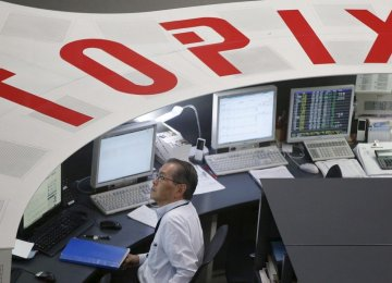 Japan's Nikkei slipped after data showed the country's economy contracted in the first quarter for the first time since late 2015.