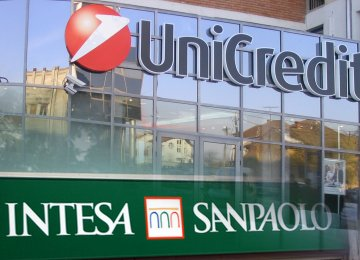 UniCredit and Intesa, both lost roughly one third of a percentage point in core capital due to the sell-off, though Intesa was able  to offset the hit by issuing new shares.