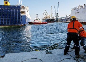 Spain Dockworkers Protest Labor Reform