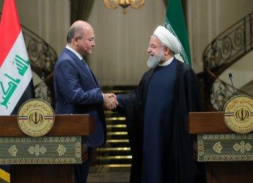 Iran, Iraq Presidents Discuss Expansion of Ties in Tehran