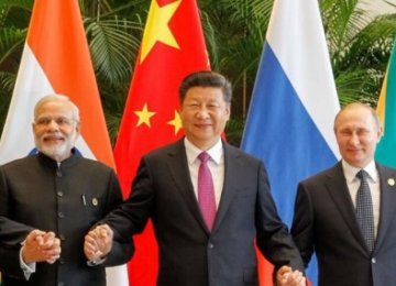 (From L) Brazil President Michel Temer, India PM Narendra Modi, China President Xi Jinping, Russia President Vladimir Putin and South Africa President Jacob Zuma.