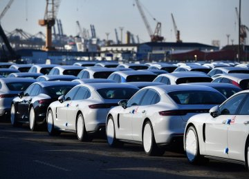 Shares in German and other European car manufacturers fell on Friday after Trump threatened  to impose a 20% tariff on cars imported from the bloc.
