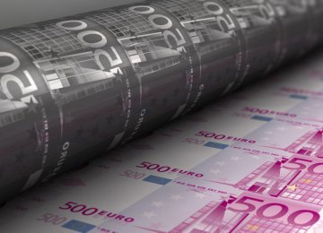 The ECB is currently printing €60 billion a month.