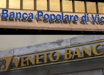 The two Italian banks facing financial crisis.