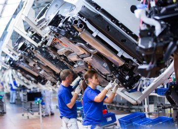 IHS Markit said, on a sector basis, growth of manufacturing production eased to an eight-month low and service sector  business activity rose to the weakest extent in almost a year-and-a-half.