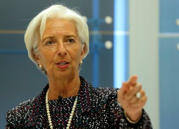 Christine Lagarde says leaning back and waiting for artificial intelligence or other technologies to trigger a productivity revival is simply not an option.
