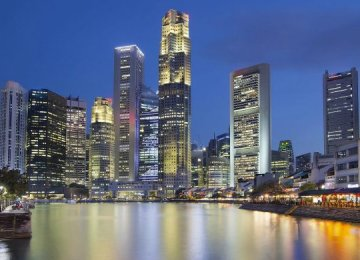 Singapore's economy expanded 4.3% in the first quarter from a year earlier.