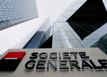 SocGen posted first-quarter net income to €747 million.
