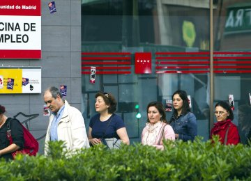 Spain sees unemployment edge up in first quarter.