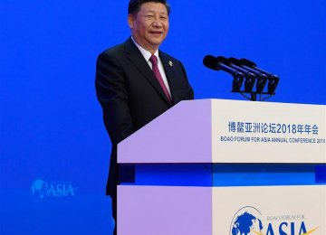 President Xi Jinping, speaking at the Boao Forum for Asia in Hainan province, China, on Tuesday.