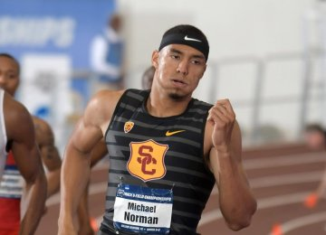 Norman Sets 400m Record