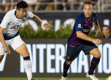 Barca Beats Tottenham Hotspur