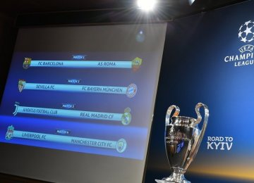 Spanish clubs dominate the quarterfinals of the UCL with three teams, while Europa league quarterfinals teams are from eight countries.